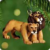 2000 Noah's Ark Collection: Kindly Lions Miniature Ornament