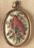1991 Cardinal Cameo Miniature Ornament
